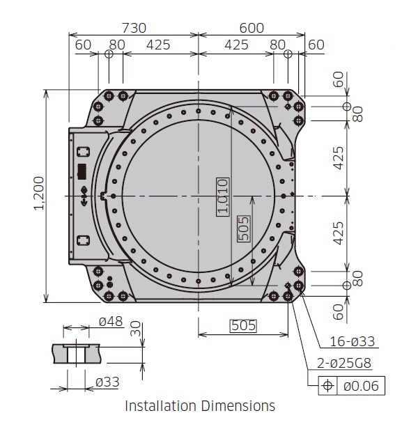 Kawasaki MG10HL installation drawing